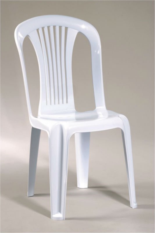 Plastic white chair - Witte plastic stoel ...